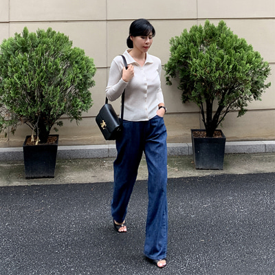 CEL wide denim pants